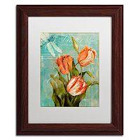 Trademark Fine Art Tulips Ablaze III Framed Wall Art