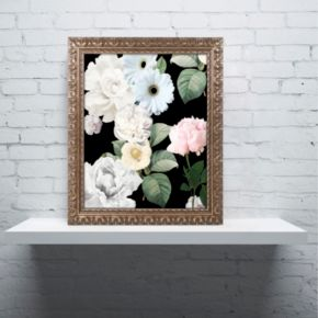 Trademark Fine Art Wallflowers Ornate Framed Wall Art