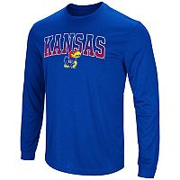 Men's Campus Heritage Kansas Jayhawks Gradient Long-Sleeve Tee