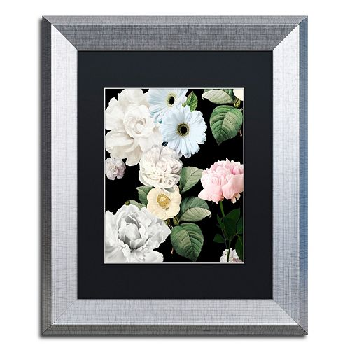 Trademark Fine Art Wallflowers Silver Finish Framed Wall Art