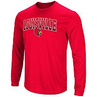 Men's Campus Heritage Louisville Cardinals Gradient Long-Sleeve Tee
