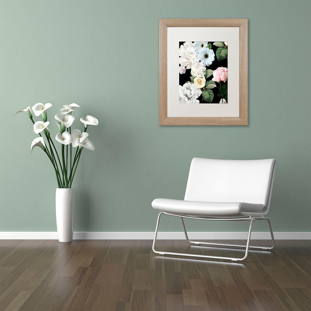 Trademark Fine Art Wallflowers Distressed Framed Wall Art