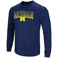 Men's Campus Heritage Michigan Wolverines Gradient Long-Sleeve Tee