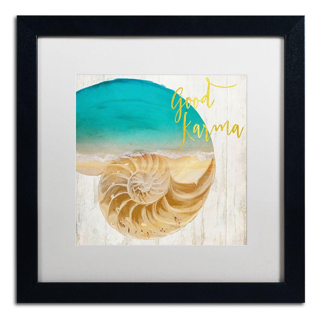 Trademark Fine Art Sea In My Hand Black Framed Wall Art