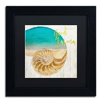 Trademark Fine Art Sea In My Hand Black Framed Wall Art