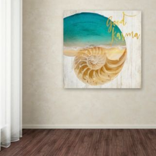 Trademark Fine Art Sea In My Hand Canvas Wall Art