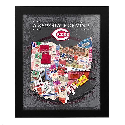 Cincinnati Reds State of Mind Framed Wall Art