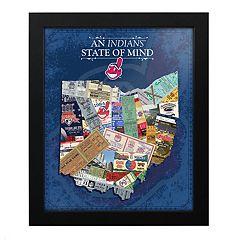 Cleveland Indians State of Mind Framed Wall Art