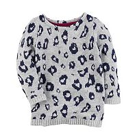 Girl's 4-8 Carter's Leopard Print Sweater
