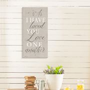 Artissimo Designs 'As I Have Loved You' Canvas Wall Art