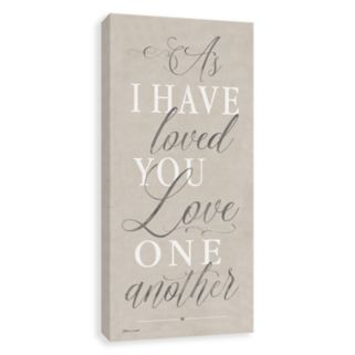 """Artissimo Designs """"As I Have Loved You"""" Canvas Wall Art"""