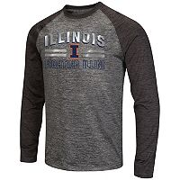 Men's Campus Heritage Illinois Fighting Illini Raven Long-Sleeve Tee