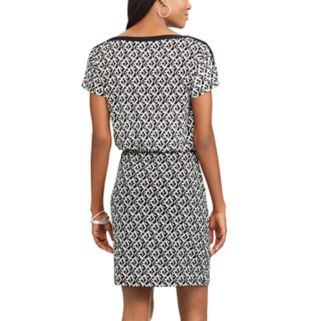 Women's Chaps Geometric Blouson Dress