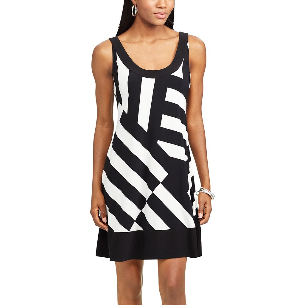 Women's Chaps Striped A-Line Dress