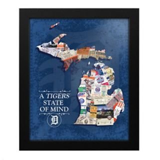 Detroit Tigers State of Mind Framed Wall Art