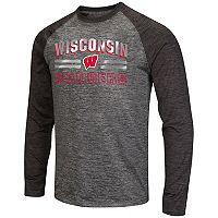Men's Campus Heritage Wisconsin Badgers Raven Long-Sleeve Tee