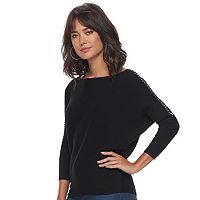Women's Jennifer Lopez Ribbed Dolman Sweater