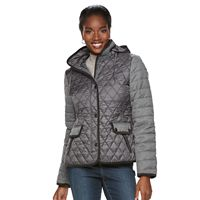 Women's Gallery Quilted Mixed-Media Puffer Jacket