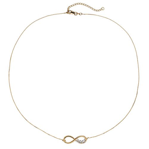 "Two Tone 14k Gold ""2017"" Infinity Necklace"