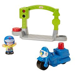 Fisher-Price Little People Stop & Go Police Motorcycle