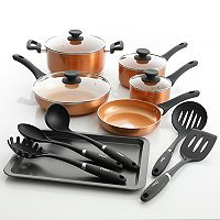 Oster 15-pc. Cookware Set (Copper or Teal)