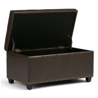 Simpli Home Amelia Storage Ottoman Bench