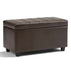Simpli Home Darcy Storage Ottoman Bench