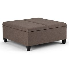 Simpli Home Ellis Coffee Table Storage Ottoman