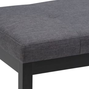 Simpli Home Lacey Tufted Ottoman Bench