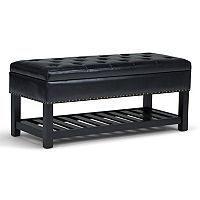 Simpli Home Lomond Storage Ottoman Bench