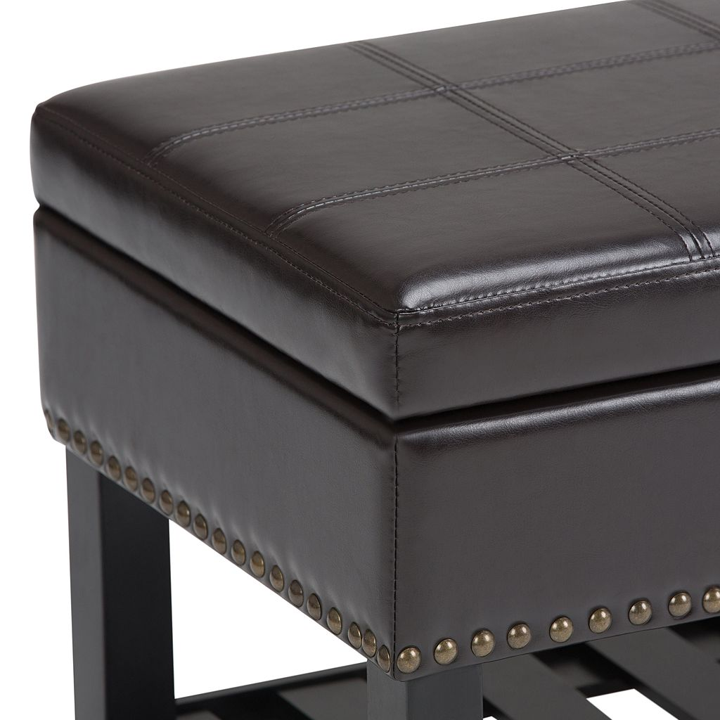 Simpli Home Radley Storage Ottoman Bench