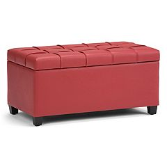 Simpli Home Sienna Storage Ottoman Bench