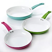Gibson Home 3-pc. Ceramic Nonstick Frypan Set