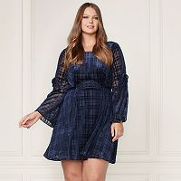 LC Lauren Conrad Runway Collection Velvet Fit & Flare Dress - Plus Size