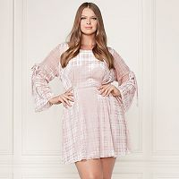 LC Lauren Conrad Runway Collection Velvet Fit & Flare Dress - Plus Size