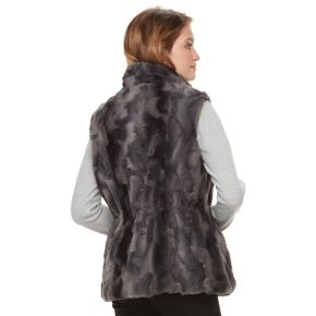 Women's Gallery Reversible Faux-Fur Vest