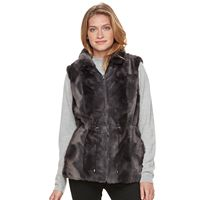 Women's Gallery Reversible Faux-Fur Vest