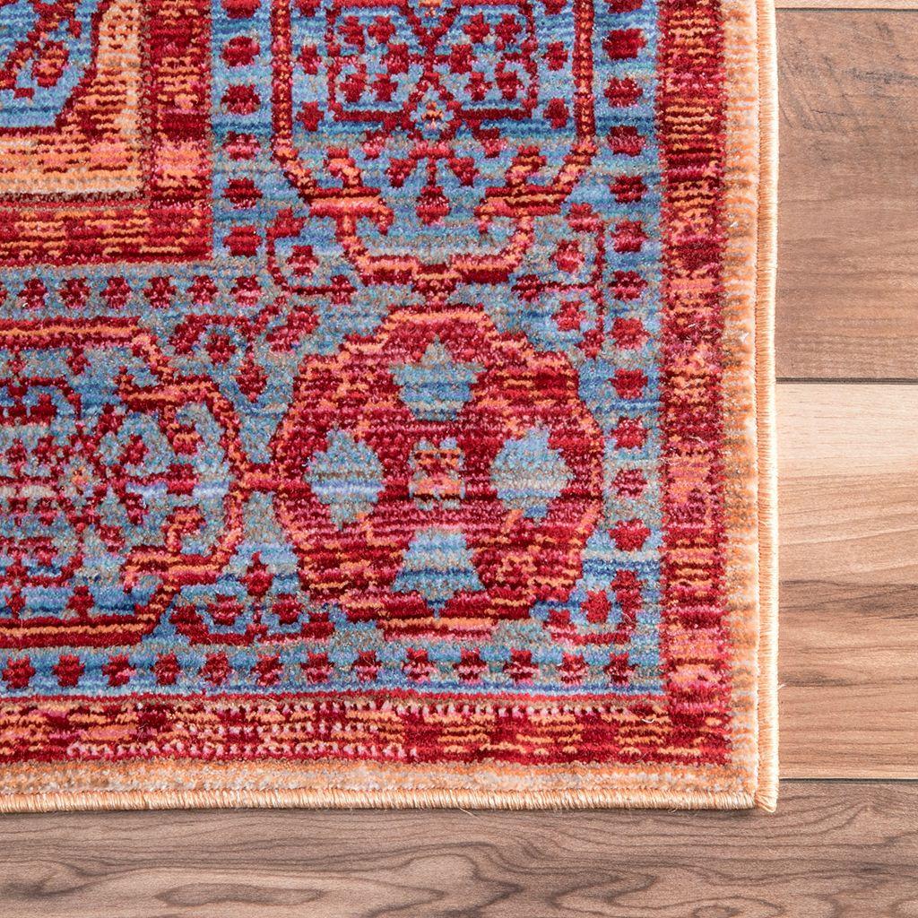 nuLOOM Vivid Silk Wonda Mamluk Framed Medallion Rug