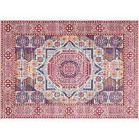 nuLOOM Vivid Silk Wonda Mamluk Framed Medallion Rug