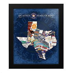 Houston Astros State of Mind Framed Wall Art
