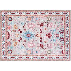 nuLOOM Vivid Silk Delisa Persian Framed Floral Rug