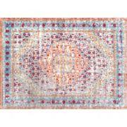 nuLOOM Vivid Silk Daria Persian Framed Floral Rug