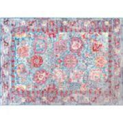 nuLOOM Vivid Silk Sharon Vintage Persian Framed Floral Rug