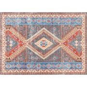 nuLOOM Vivid Silk Renda Tribal Framed Medallion Rug