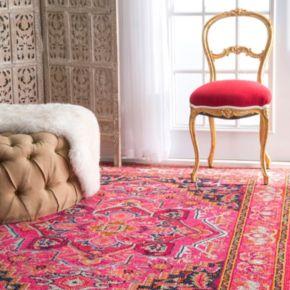 nuLOOM Casablanca Mackenzie Vintage Framed Floral Rug
