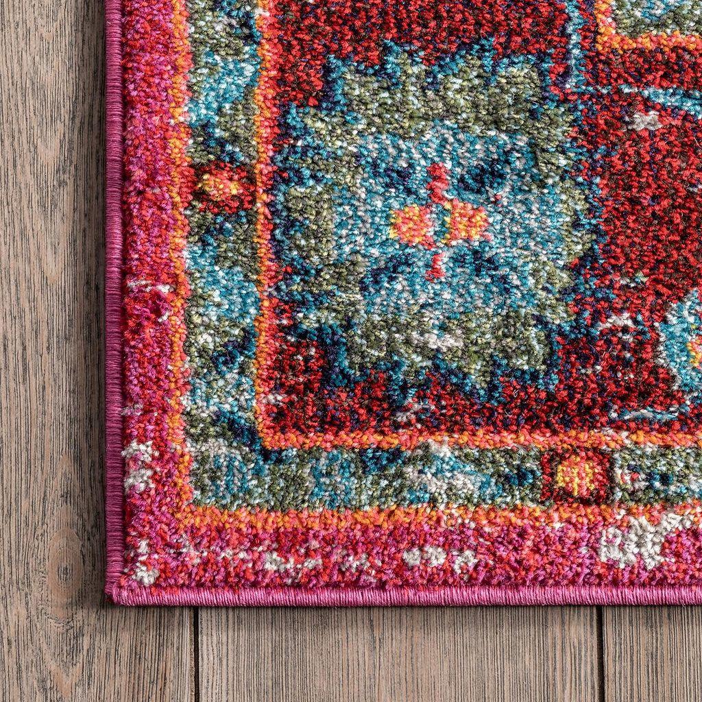 nuLOOM Casablanca Corbett Vintage Framed Floral Rug