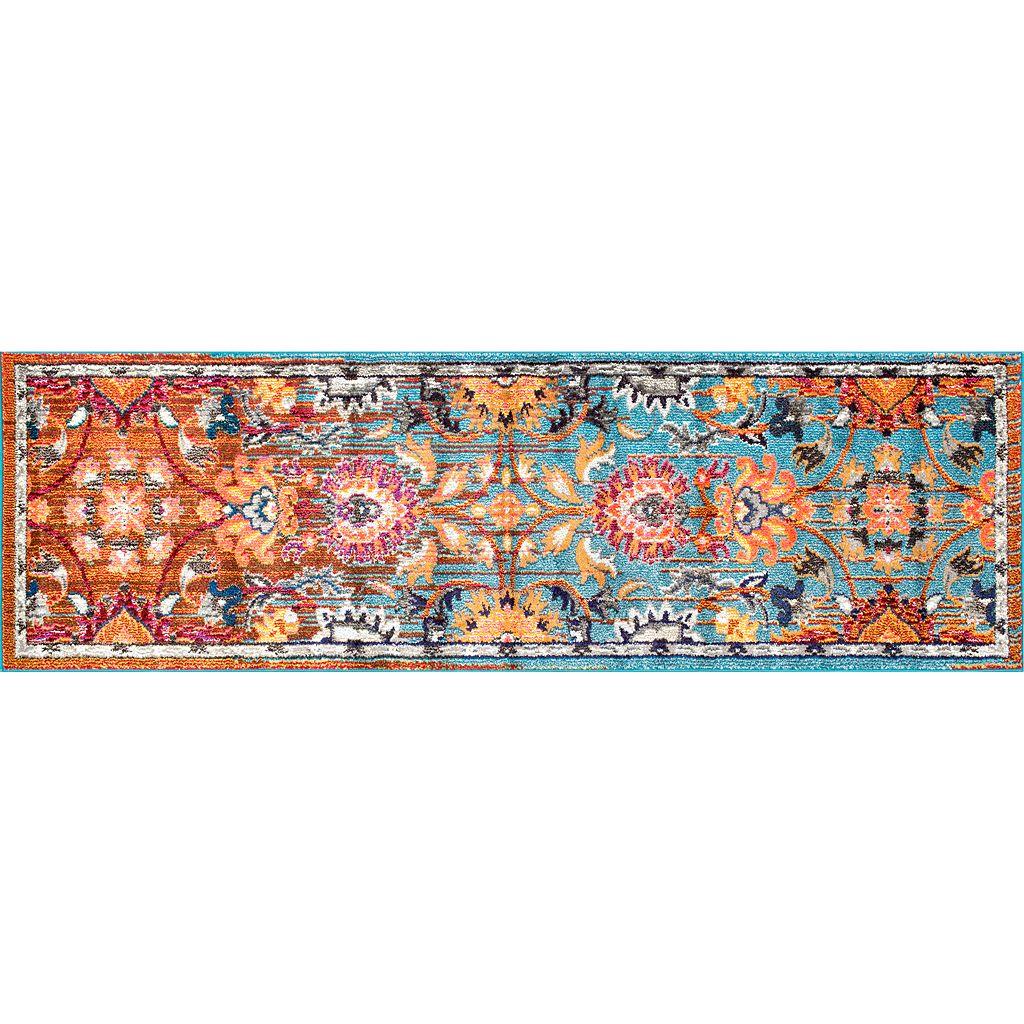 nuLOOM Casablanca Mallory Framed Floral Rug