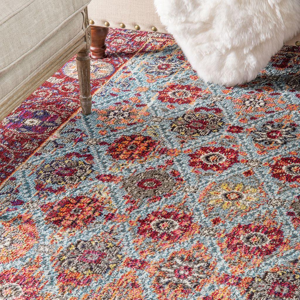 nuLOOM Casablanca Lavonne Framed Floral Trellis Rug