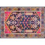 nuLOOM Casablanca Tonita Tribal Framed Floral Rug