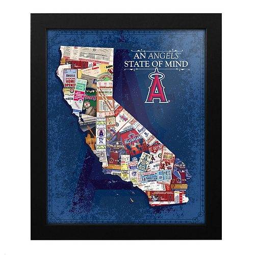 Los Angeles Angels of Anaheim State of Mind Framed Wall Art